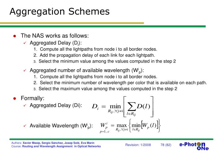 Aggregation Schemes