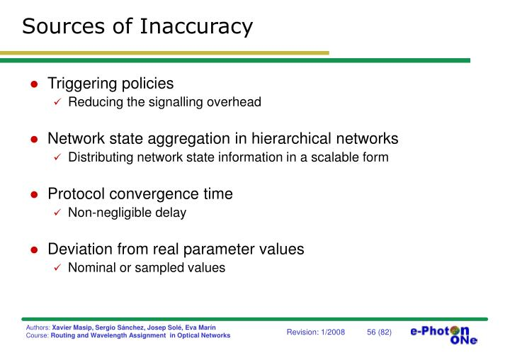 Sources of Inaccuracy