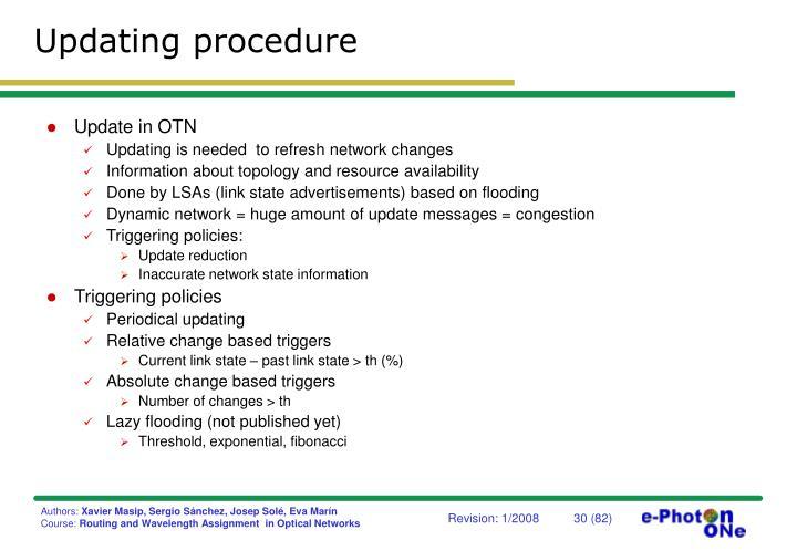 Updating procedure