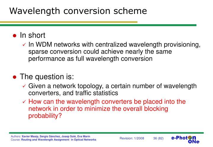 Wavelength conversion scheme