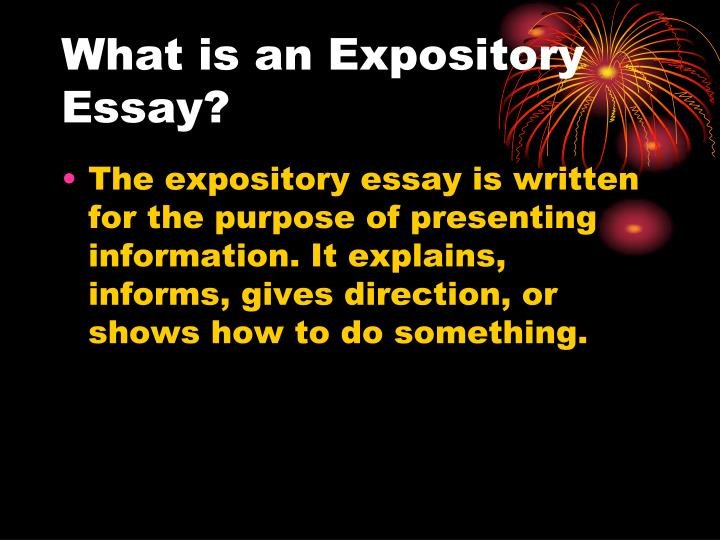 expository essay components This video teaches the expository components for writing a single paragraph essay use this in conjunction with strategies for writing, a.