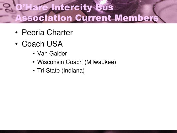 O'Hare Intercity Bus Association Current Members