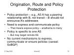 origination route and policy protection