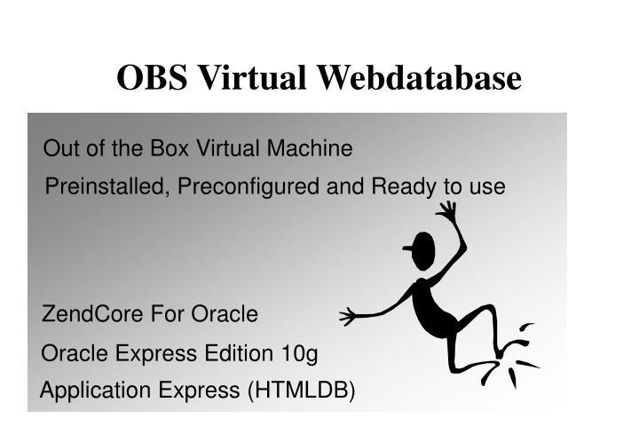 OBS Virtual Webdatabase