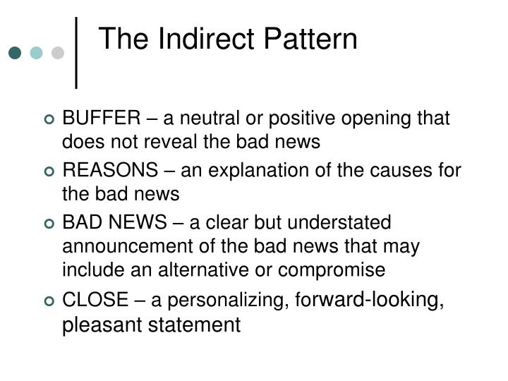 The Indirect Pattern