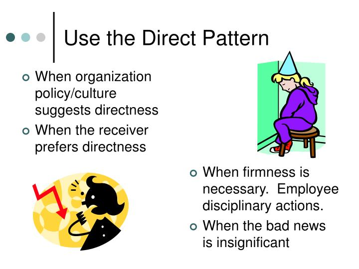 When organization policy/culture suggests directness