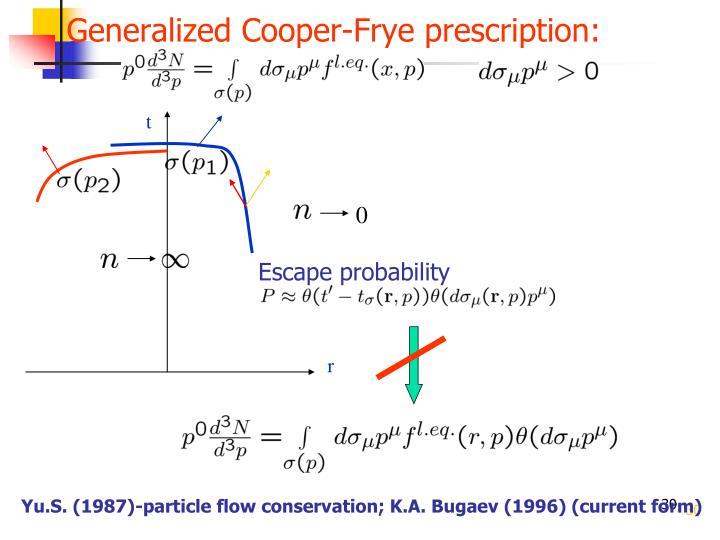 Generalized Cooper-Frye prescription: