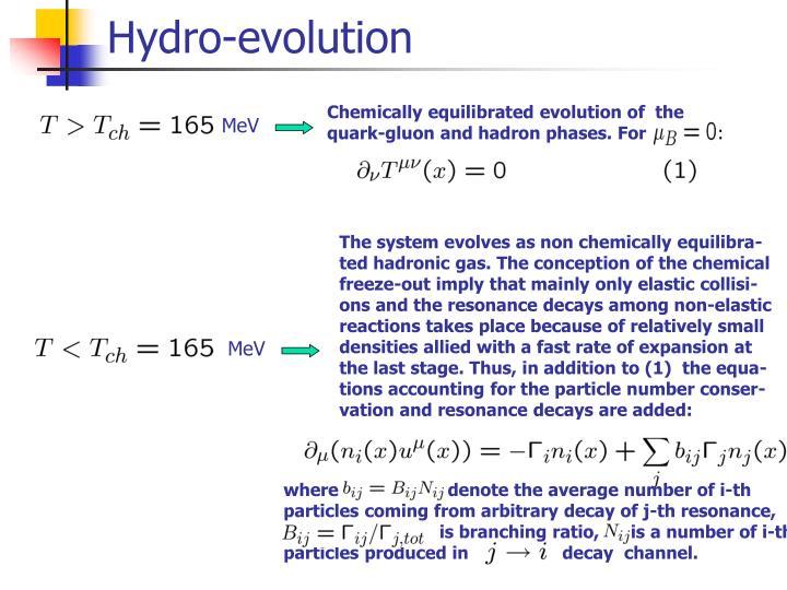 Hydro-evolution