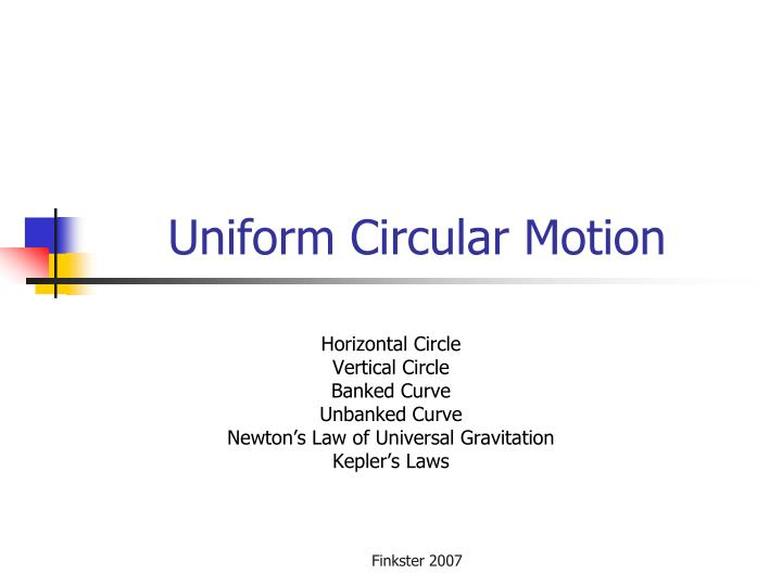PPT - Uniform Circular Motion PowerPoint Presentation - ID