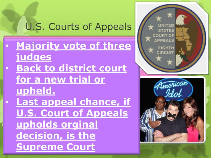 U.S. Courts of Appeals continued