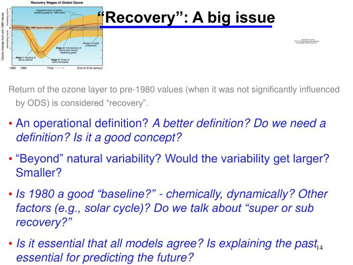 """""""Recovery"""": A big issue"""