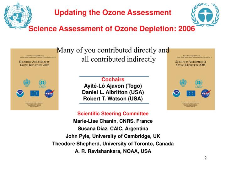 Updating the Ozone Assessment