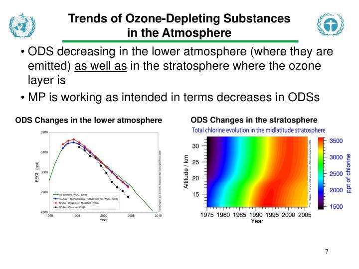 Trends of Ozone-Depleting Substances