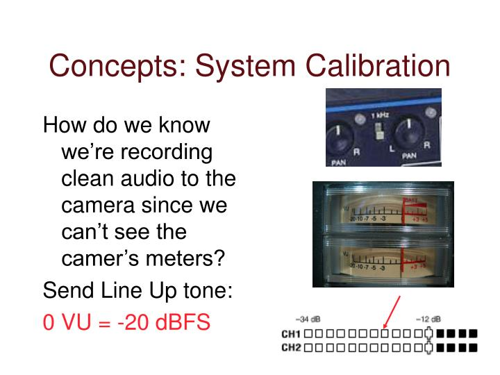Concepts: System Calibration