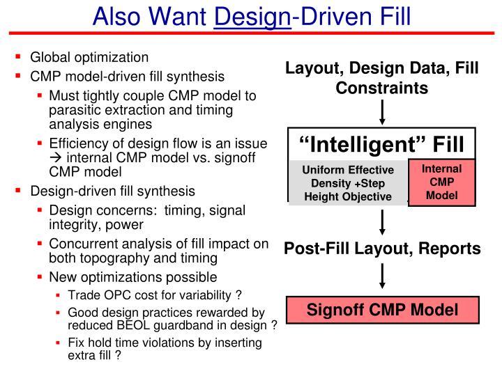 Layout, Design Data, Fill Constraints
