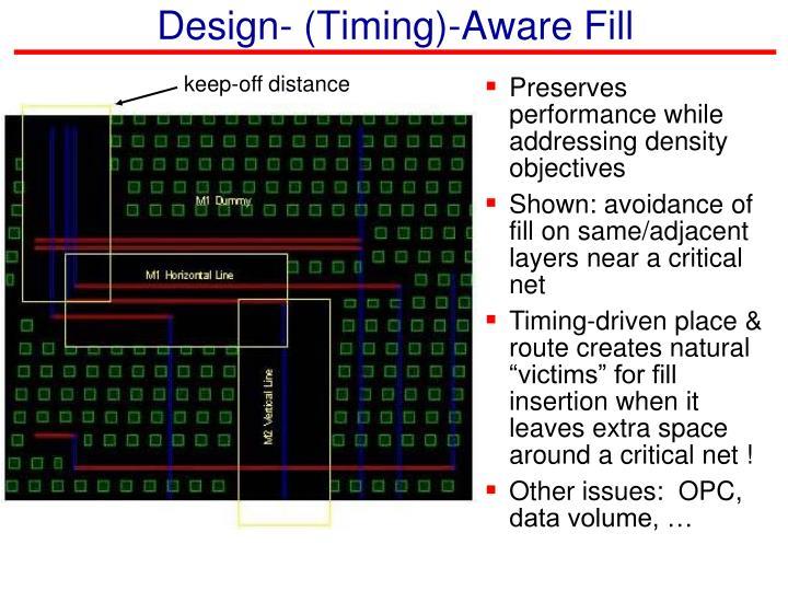 Design- (Timing)-Aware Fill