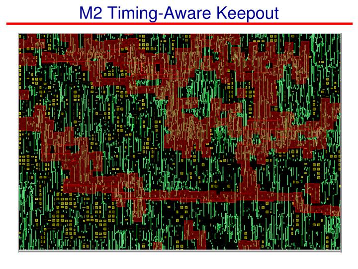 M2 Timing-Aware Keepout