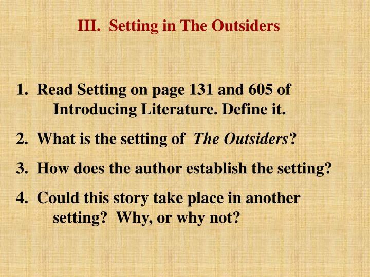 the outsiders novel setting