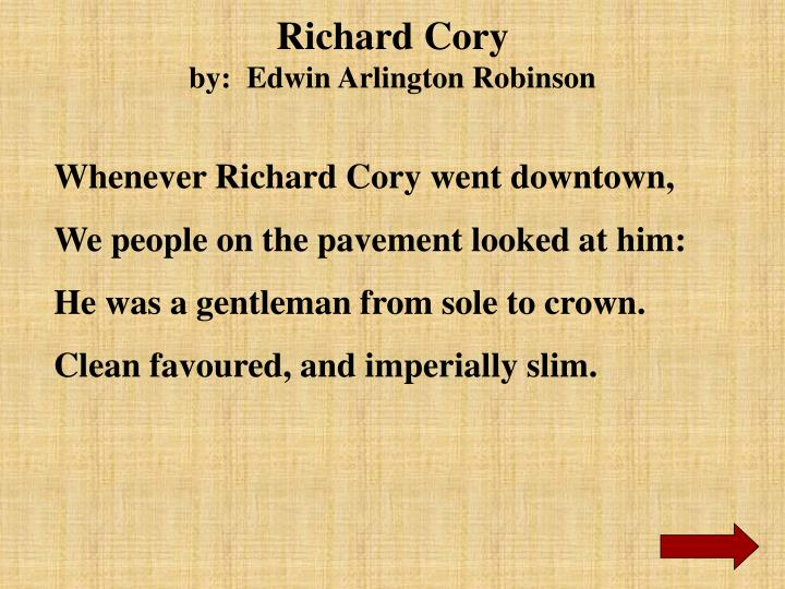 richard cory analysis line by line