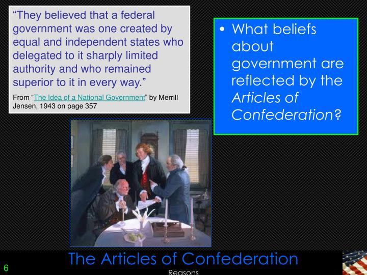 merrill jensen this reports of confederation