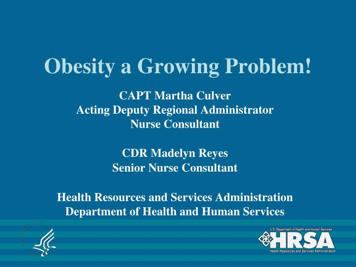 obesity a growing problem n.