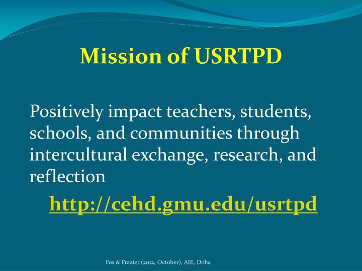 Mission of USRTPD