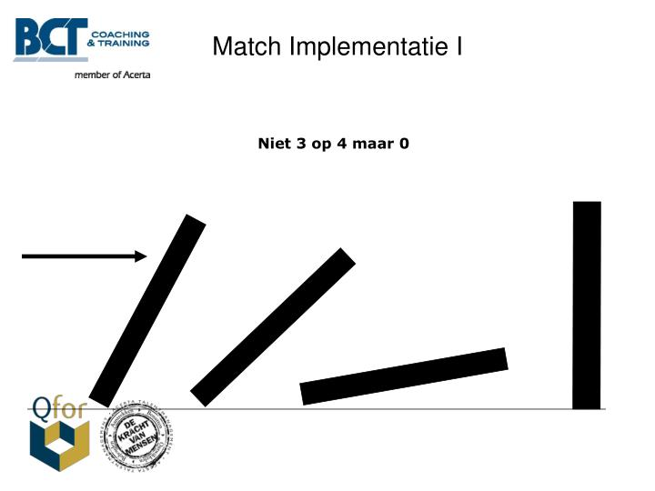 Match Implementatie I