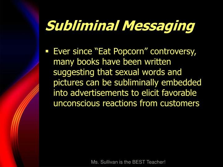 subliminal messages speech Think you got what it takes to write for crackedcom 17 subliminal messages you'd never 17 subliminal messages you'd never notice in.