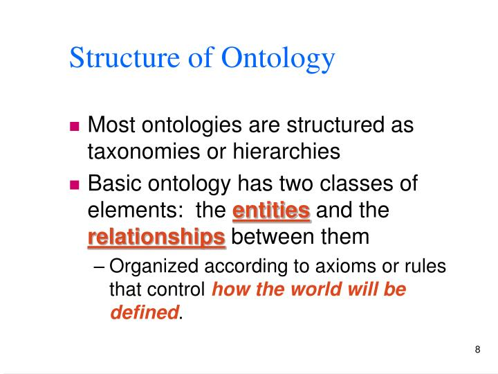 Structure of Ontology