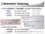 semantic coloring