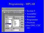 programming mplab