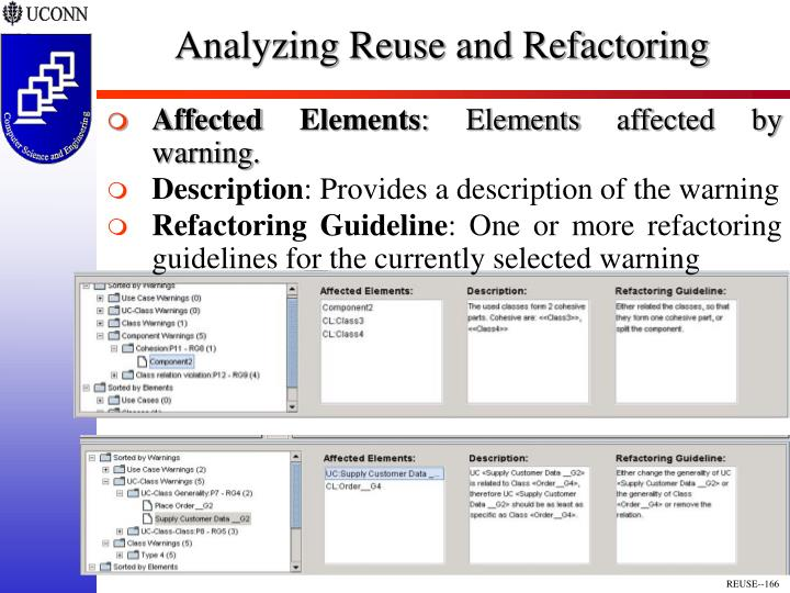 Analyzing Reuse and Refactoring