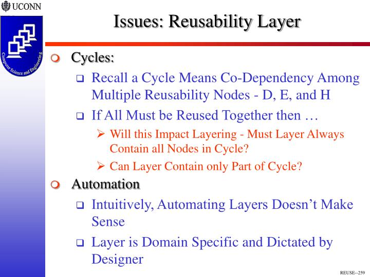 Issues: Reusability Layer