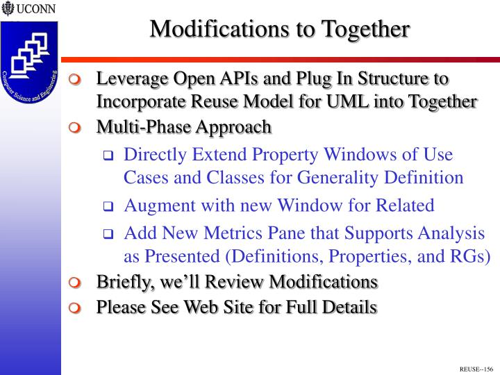 Modifications to Together