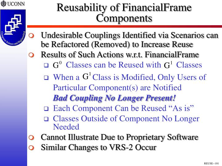 Reusability of FinancialFrame Components