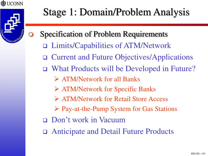 Stage 1: Domain/Problem Analysis