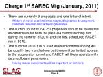 charge 1 st sarec mtg january 2011