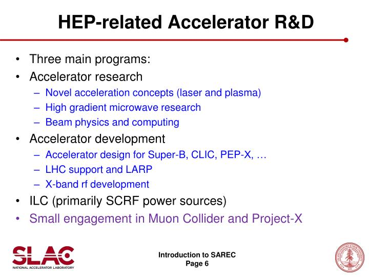 HEP-related Accelerator R&D