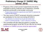 preliminary charge 2 nd sarec mtg winter 2012