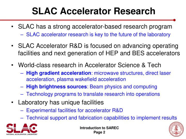 Slac accelerator research