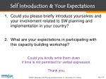 self introduction your expectations