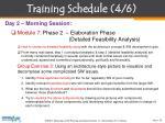 training schedule 4 6