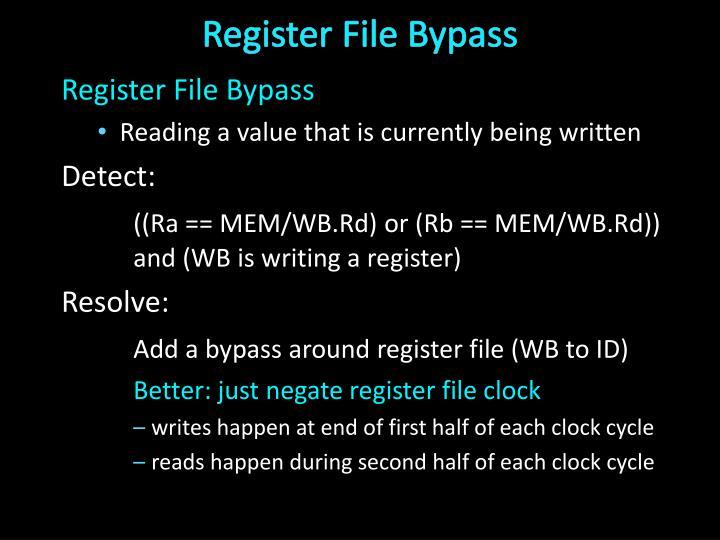 Register File Bypass