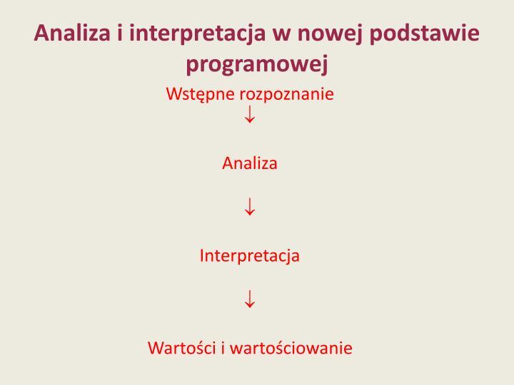 Analiza i interpretacja w nowej podstawie programowej