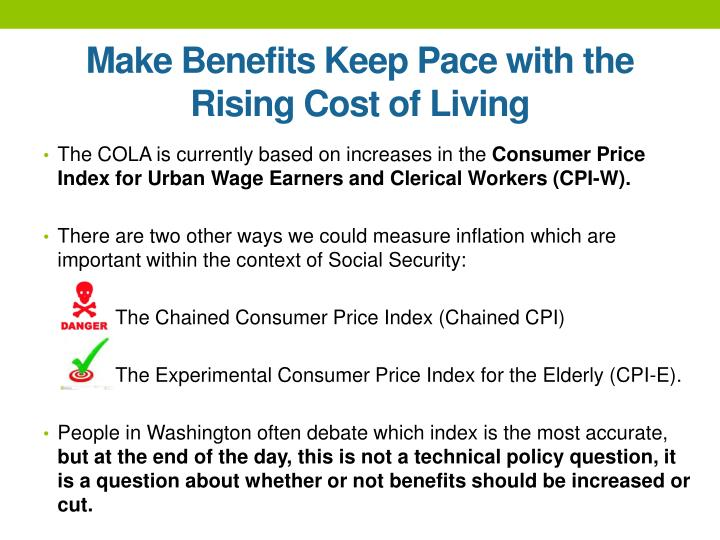 Make Benefits Keep Pace with the Rising Cost of Living