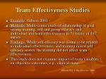team effectiveness studies1