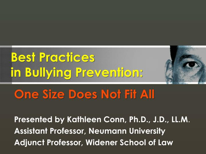 best practices in bullying prevention n.