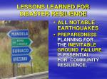 lessons learned for disaster resilience2