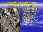 lessons learned for disaster resilience3