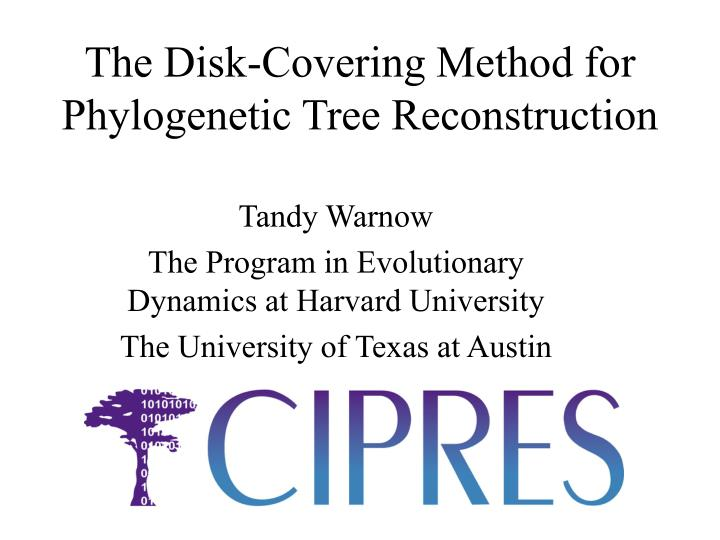 the disk covering method for phylogenetic tree reconstruction n.
